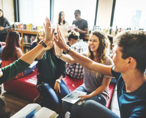 Classmate Classroom Sharing International Friend Concept Homework