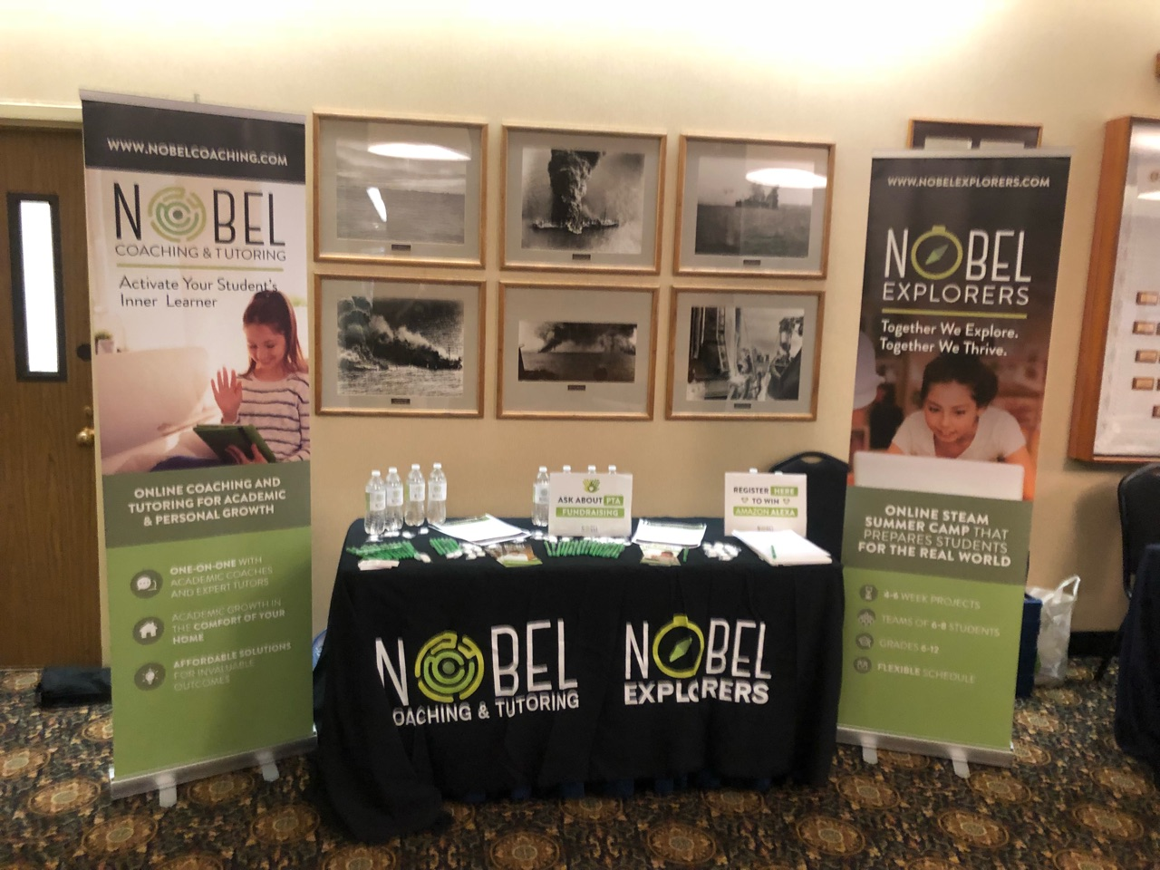 Nobel coaching and tutoring stand