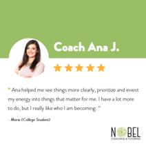 Testimonials about coach Ana J.